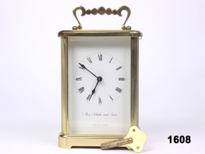 c1970 West German 8 day striking carriage clock by Aug. Schatz & Sons from Antiques of Kingston