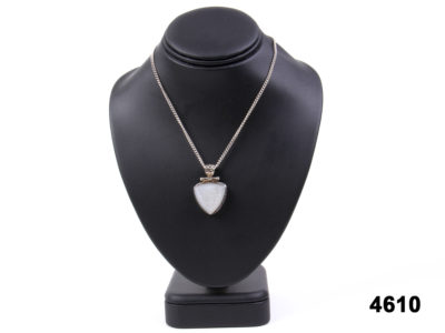 925 Sterling silver necklace with a quartz druzy pendant from Antiques of Kingston