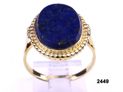 8 carat Gold ring set with lapis lazuli stone from Antiques of Kingston