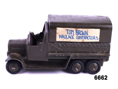 Dinky Flat Bed Lorry Main photo left side view